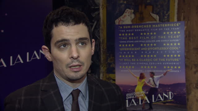 the musical film 'la la land' had a gala screening in soho. interview with director damien chazelle about creating the film and talks about the... - ryan gosling stock videos & royalty-free footage