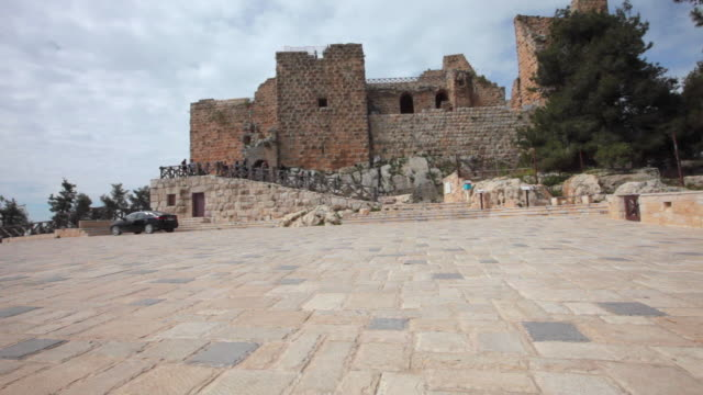 the muslim castle ajloun in jordan - circa 12th century stock videos & royalty-free footage