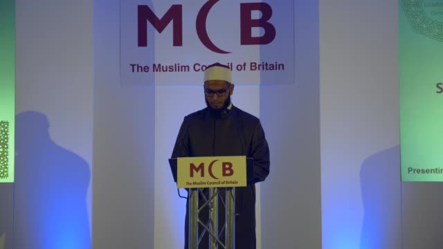 the muslim council of britain an organization representing muslims across the uk held its annual muslim leadership dinner on friday celebrating... - apt stock videos and b-roll footage