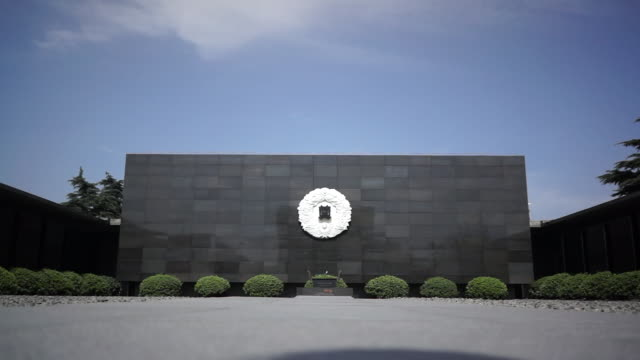 the nanjing massacre memorial hall located in the southwestern corner of nanjing is an architecture to memorialize those that were killed in the... - massenmord stock-videos und b-roll-filmmaterial