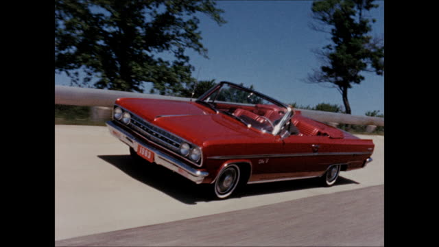 the narrator of this film says the 1963 oldsmobile is an automotive triumph that deserves to be demonstrated that demands to be demonstrated shot on... - limousine stock-videos und b-roll-filmmaterial