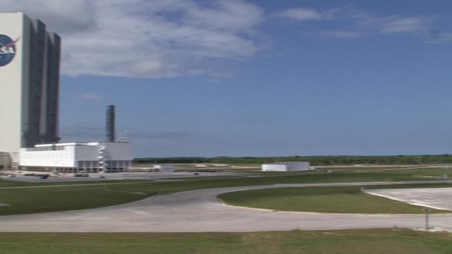 stockvideo's en b-roll-footage met the nasa john f kennedy space center building is seen during the 2013 government shutdown - united states and (politics or government)