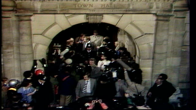 the nation decides general election special itn finchley thatcher leaving town hall - election stock videos & royalty-free footage