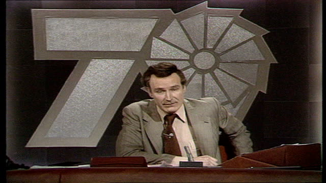 the nation decides general election special itn forecast display peter snow snow inputs the numbers into computer system - 1979 stock videos and b-roll footage