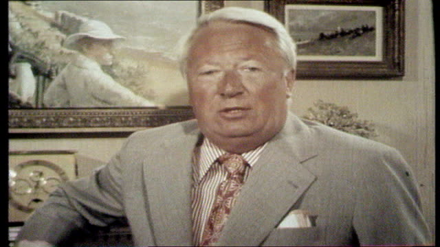the nation decides general election special itn report featuring various mp's reminiscing on funny incidents on campaigns edward heath mp sot 'a... - cyril smith politician stock videos & royalty-free footage