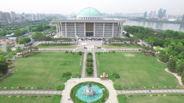 the national assembly building of the republic of korea in yeouido - national assembly stock videos & royalty-free footage