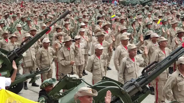 the national bolivarian militia force assembled by the venezuelan government today is said to exceeded 2 million members according to the reports on... - maduro stock videos & royalty-free footage