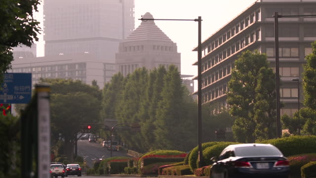 the national diet and pedestrians, tokyo, japan - parliament building点の映像素材/bロール