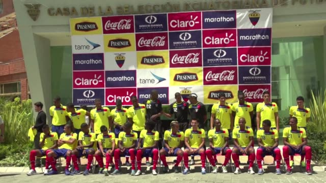 The national Ecuadorian soccer team had their final practice and official photo in Quito before their World Cup 2014 qualifying game against Uruguay...