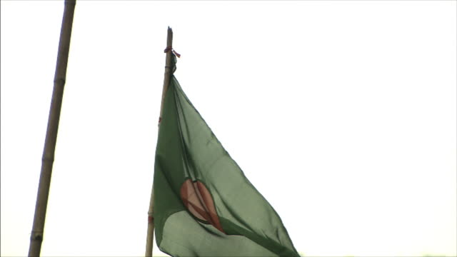 the national flag of bangladesh. - flag of bangladesh stock videos & royalty-free footage