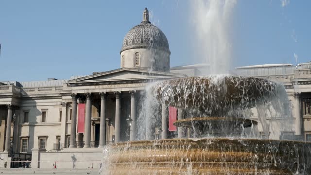 the national gallery at trafalgar square, london - column stock videos & royalty-free footage