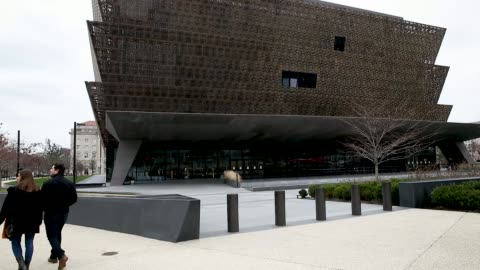 the national museum of african american history, smithsonian museums closed due to the partial shutdown of the u.s. government as it goes into the... - smithsonian institution stock videos & royalty-free footage