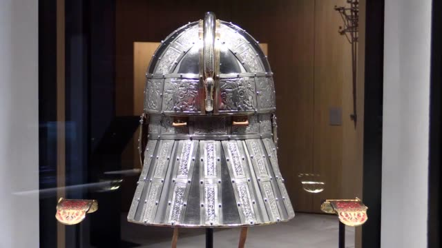 the national trust has transformed sutton hoo so visitors get a 'real sense' of the importance of the royal burial mounds when they stand before... - national trust video stock e b–roll