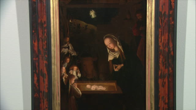MS The Nativity at Night by Geertgen tot Sint Jans, oil on oak, circa 1490 / The National Gallery, London, United Kingdom
