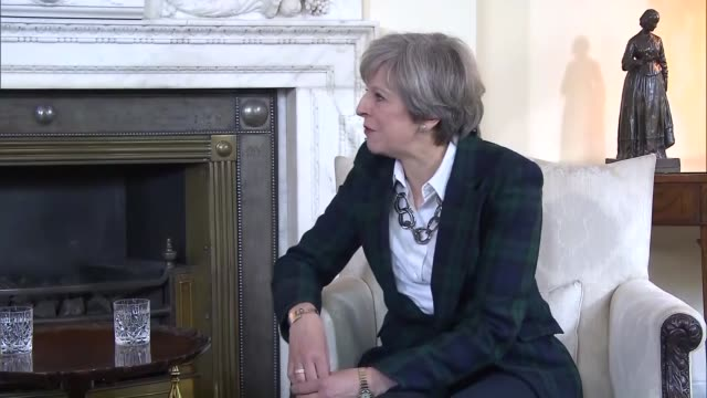 the nato secretary general mr jens stoltenberg traveled to london on wednesday 10 may 2017 during his visit the secretary general met the prime... - prime minister of the united kingdom stock videos & royalty-free footage