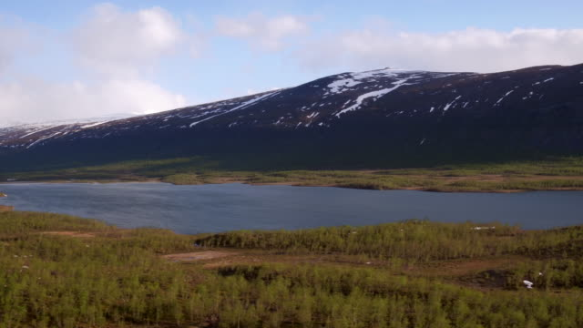 aerial: the nature of northern sweden - north stock videos and b-roll footage