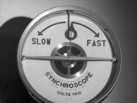 vídeos y material grabado en eventos de stock de the needle on a synchroscope moves from left to right. - dial