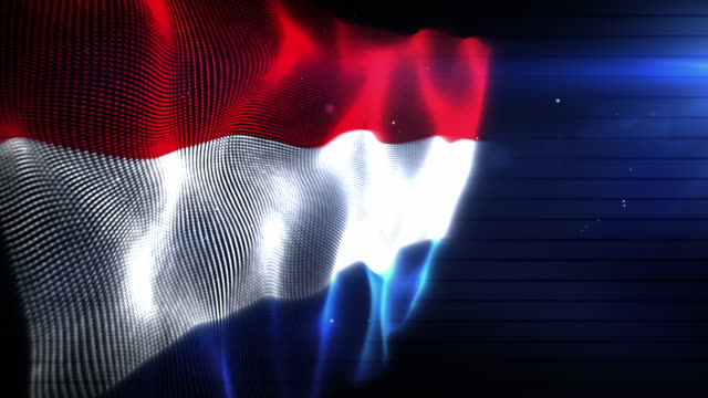 the netherlands flag - background loop (full hd) - dutch culture stock videos & royalty-free footage