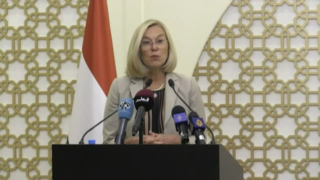 the netherlands will move its kabul diplomatic mission to qatar after the taliban's takeover of afghanistan, foreign minister sigrid kaag says,... - report produced segment stock videos & royalty-free footage