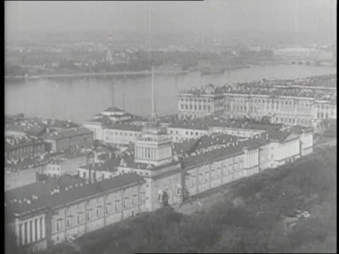 vídeos y material grabado en eventos de stock de the neva river flows past the admiralty building the hermitage and the palace bridge in leningrad soviet union - san petersburgo rusia