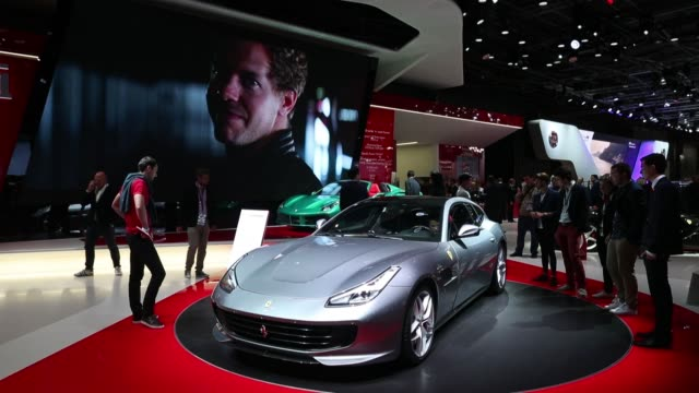 the new citroen cxperience concept automobile manufactured by the psa group sits on display during the second press day of the paris motor show at... - motor show stock videos and b-roll footage