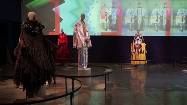 "the new exhibition in israel museum, entitled ""fashion statements – decoding israeli dress"" which surveys a century of dress in israel from the late... - eddie gerald stock videos & royalty-free footage"