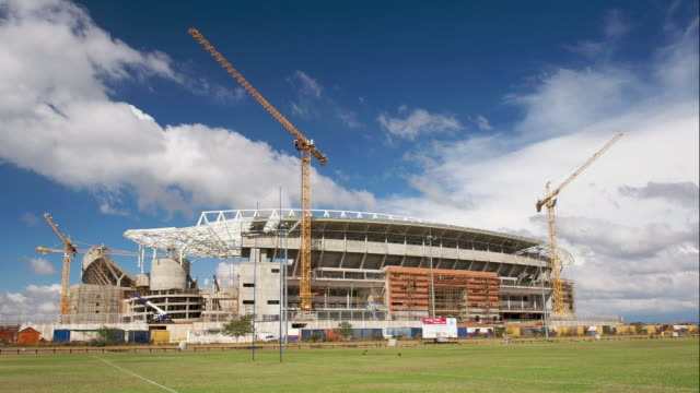 t/l the new fifa 2010 peter mokaba stadium in polokwane, south africa - fifa stock videos & royalty-free footage
