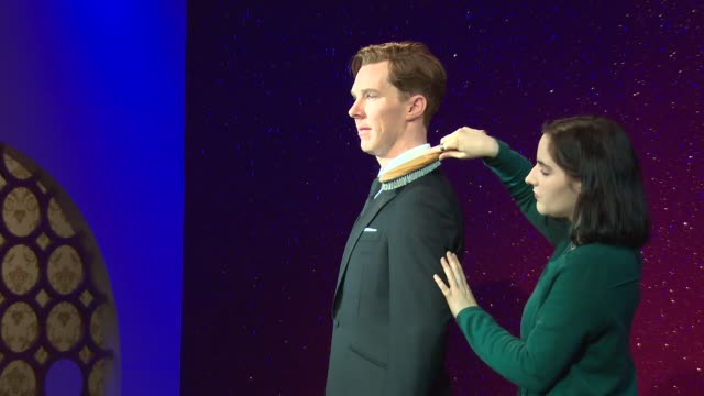 atmosphere the new figure is revealed at benedict cumberbatch wax figure launch at madame tussauds on october 21 2014 in london england - madame tussauds stock videos & royalty-free footage
