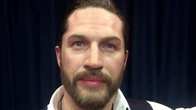 the new madame tussauds waxwork figure of actor tom hardy which features a soft warm torso and a beating heart that was unveiled at the london... - madame tussauds stock videos & royalty-free footage