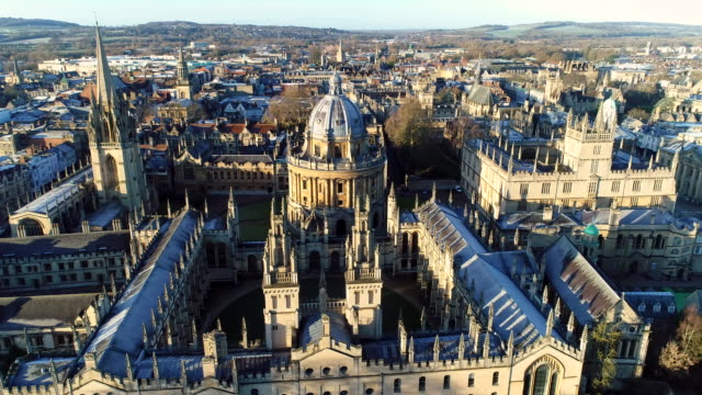 the new oxford city skyline aerial video - gothic style stock videos & royalty-free footage