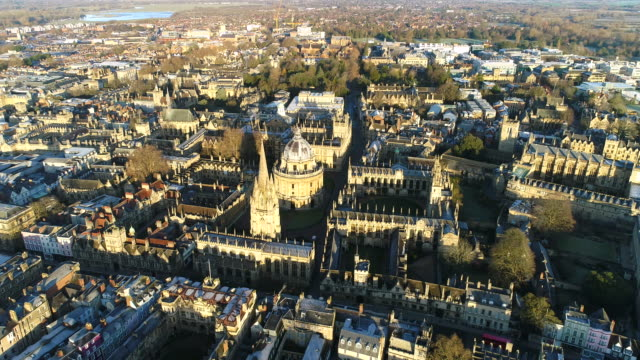the new oxford city skyline aerial video - oxfordshire stock videos & royalty-free footage