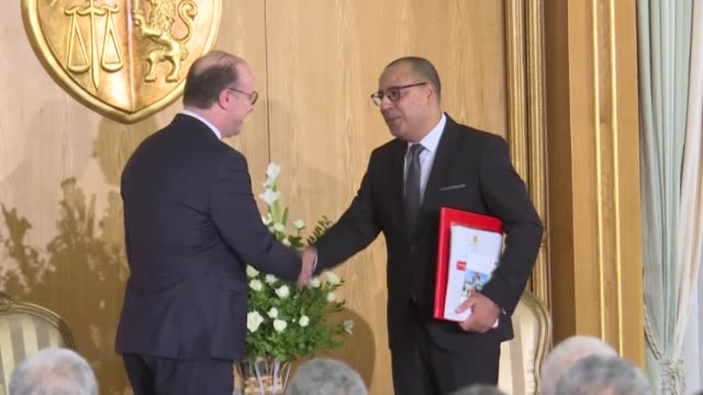 the new tunisian government took office this morning at a handover ceremony in dar dhiafa in carthage - carthage tunisia stock videos & royalty-free footage