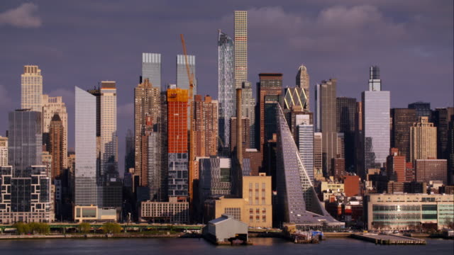 The New Upper Midtown Skyline of Manhattan with new apartment buildings and buildings under construction.