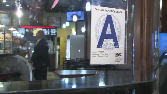 the new york city department of health restaurant grades restaurant letter grade a on october 25 2013 in new york new york - quality control stock videos & royalty-free footage