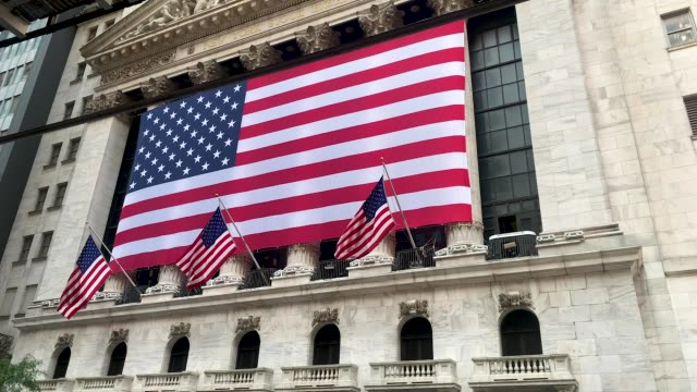 the new york stock exchange near one world trade center, the freedom tower, in lower manhattan during commemoration ceremonies for the september 11,... - b roll stock videos & royalty-free footage