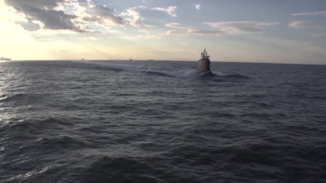 the newest virginia-class submarine minnesota returned to newport news shipbuilding on monday, may 6, after successfully completing alpha sea trials,... - alpha cell stock videos & royalty-free footage