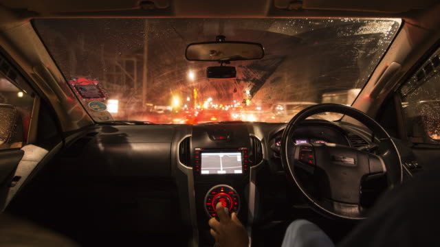 the night car driving time lapse - control stock videos & royalty-free footage