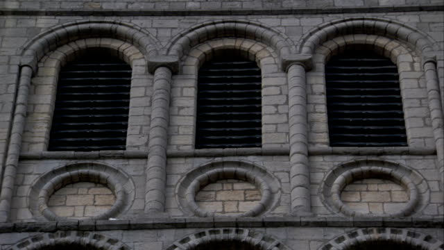 the norman tower in bury st edmunds features vented arched windows. available in hd. - bury st edmunds stock videos & royalty-free footage