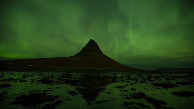 the northern light aurora borealis in iceland - swamp stock videos & royalty-free footage