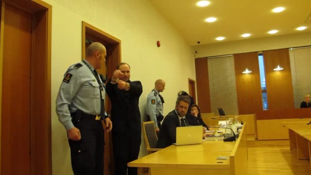 the norway gunman who killed 77 people in twin attacks in july anders behring breivik appeared at an oslo court on monday and asked for his immediate... - gunman stock videos and b-roll footage