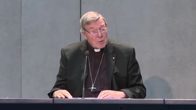 the number three in the catholic church's hierarchy cardinal george pell totally rejects sex abuse charges announced by australian police saying the... - hierarchy stock videos & royalty-free footage