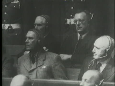 the nuremberg war crimes trials present documents showing the determination of nazi leaders to invade poland. - nuremberg trials stock videos & royalty-free footage