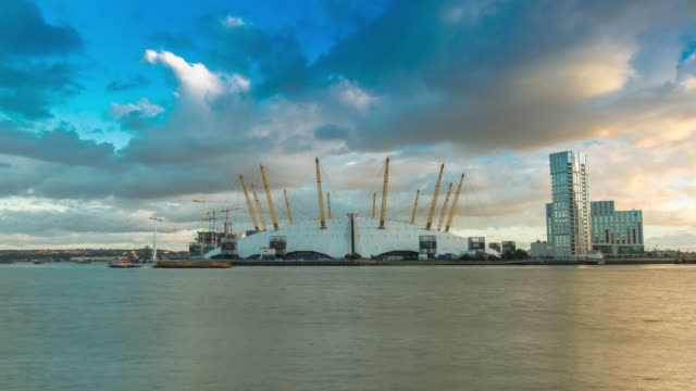 the o2 / millenium dome hyperlapse - dome stock videos & royalty-free footage