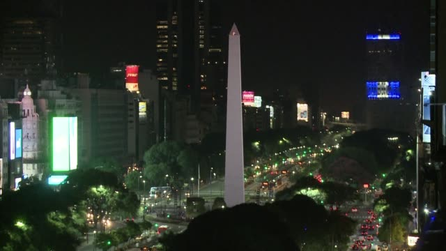 the obelisk in buenos aires was turned off this saturday for the launch of earth hour a campaign organized every year across the world to raise... - earth hour stock videos & royalty-free footage
