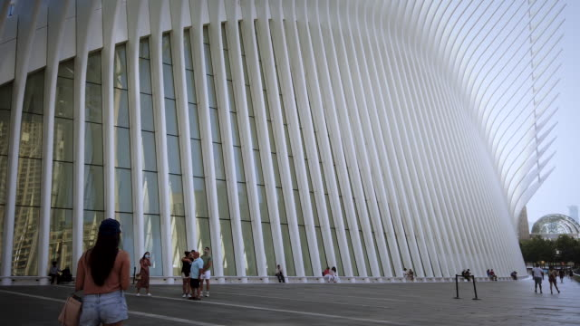 the oculus by architect santiago calatrava in lower manhattan new york city near the world trade center during the coronavirus pandemic building... - 2000s style stock videos & royalty-free footage
