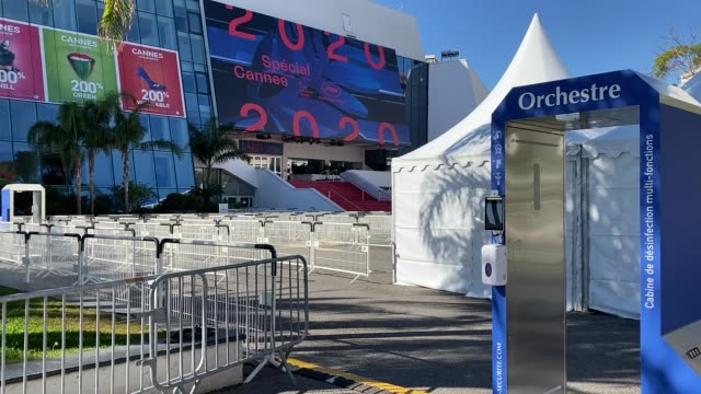 the official poster of the cannes special 2020 film festival at palais des festivals on october 27 2020 in cannes france - festival poster stock videos & royalty-free footage