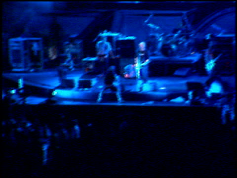 the offspring at the kroq weenie roast at edison field in anaheim california on june 17 2000 - kroq weenie roast stock videos & royalty-free footage