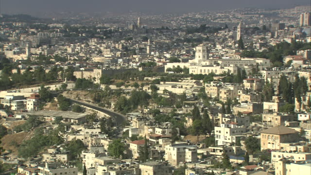 The Old City of Jerusalem surrounds Temple Mount and the Dome of the Rock.