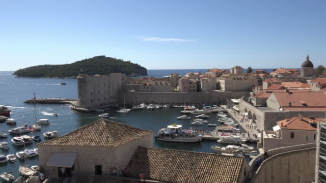 PAN / The old city port of Dubrovnik and Dominican monastery tower