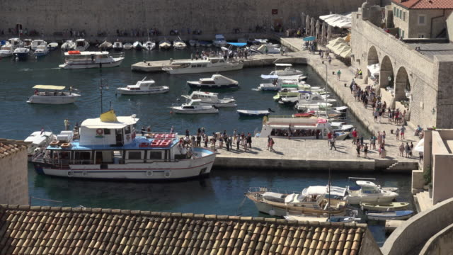 The old city port of Dubrovnik
